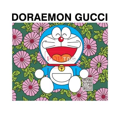 卡通动漫哆啦A梦植物花朵字母DORAEMON GUCCI印花图案服装裁片T恤卫衣烫图印花花型素材-POP花型网