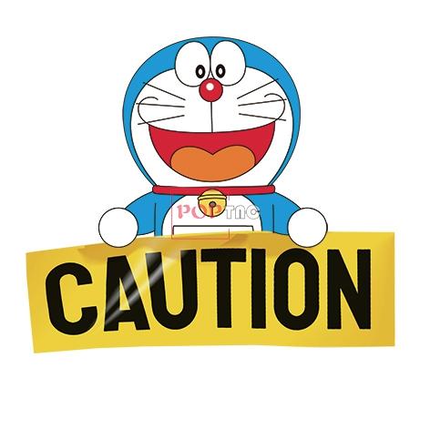 卡通动漫哆啦A梦字母CAUTION印花图案服装裁片T恤卫衣烫图印花花型素材-POP花型网