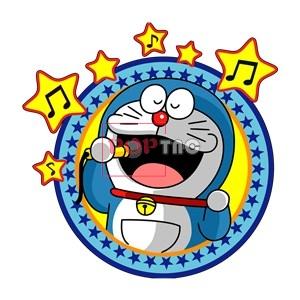 卡通动漫哆啦A梦音乐星星印花图案服装裁片T恤卫衣烫图印花花型素材-POP花型网