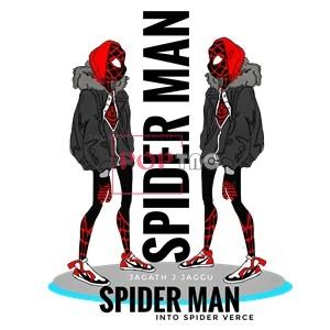 卡通动漫蜘蛛侠字母印花图案服装裁片T恤卫衣烫图印花花型素材-POP花型网