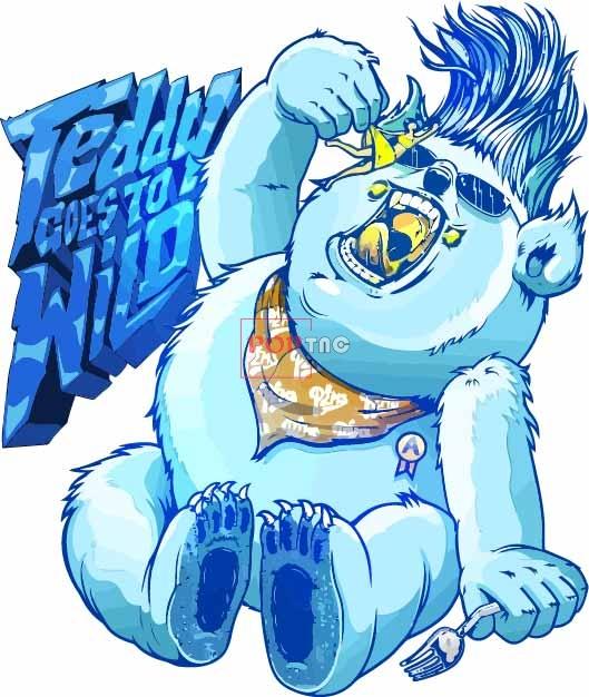 卡通动漫字母嘻哈风印花图案服装裁片T恤卫衣烫图印花花型素材-POP花型网
