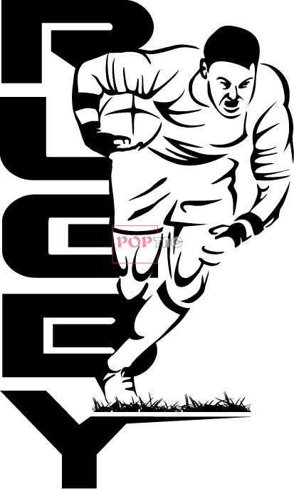 卡通篮球人物字母印花图案服装裁片T恤印花花型素材-POP花型网
