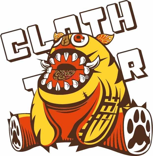 卡通动漫小怪兽字母嘻哈风印花图案服装裁片T恤卫衣烫图印花花型素材-POP花型网