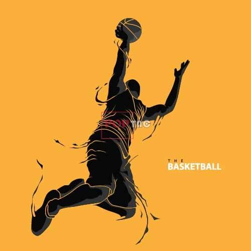 篮球人物印花图案服装裁片T恤卫衣烫图印花花型素材-POP花型网