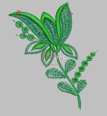 植物花卉绣花刺绣图案-POP花型网