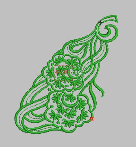 蕾丝花纹绣花刺绣图案-POP花型网