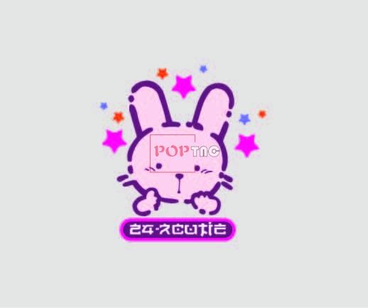 卡通动物小兔子星星印花图案服装裁片T恤卫衣烫图印花花型素材-POP花型网