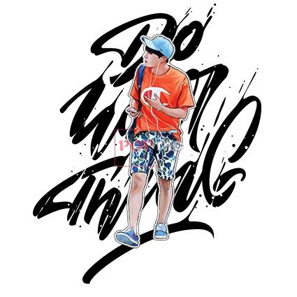 潮图人物印花图案服装裁片T恤卫衣烫图印花花型素材-POP花型网