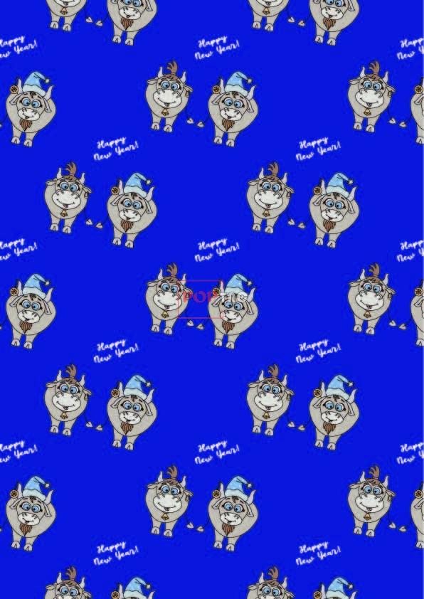 卡通动物牛字母印花图案服装纺织数码印花花型素材-POP花型网