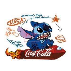 卡通动漫史迪仔史迪奇火箭可口可乐印花图案服装裁片T恤卫衣烫图印花花型素材-POP花型网
