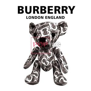 卡通潮牌熊Burberry印花图案服装裁片T恤卫衣烫图印花花型素材-POP花型网