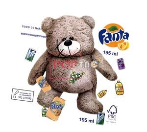 潮牌卡通熊Fanta联名款字母印花图案服装裁片T恤卫衣烫图印花花型素材-POP花型网