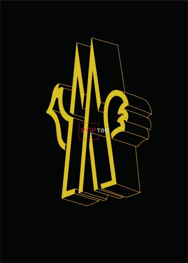 MONCLER标志印花图案服装裁片T恤卫衣烫图印花花型素材-POP花型网