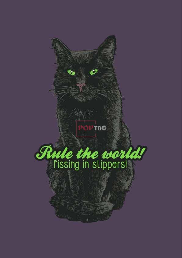动物猫咪字母印花图案服装裁片T恤卫衣烫图印花花型素材-POP花型网