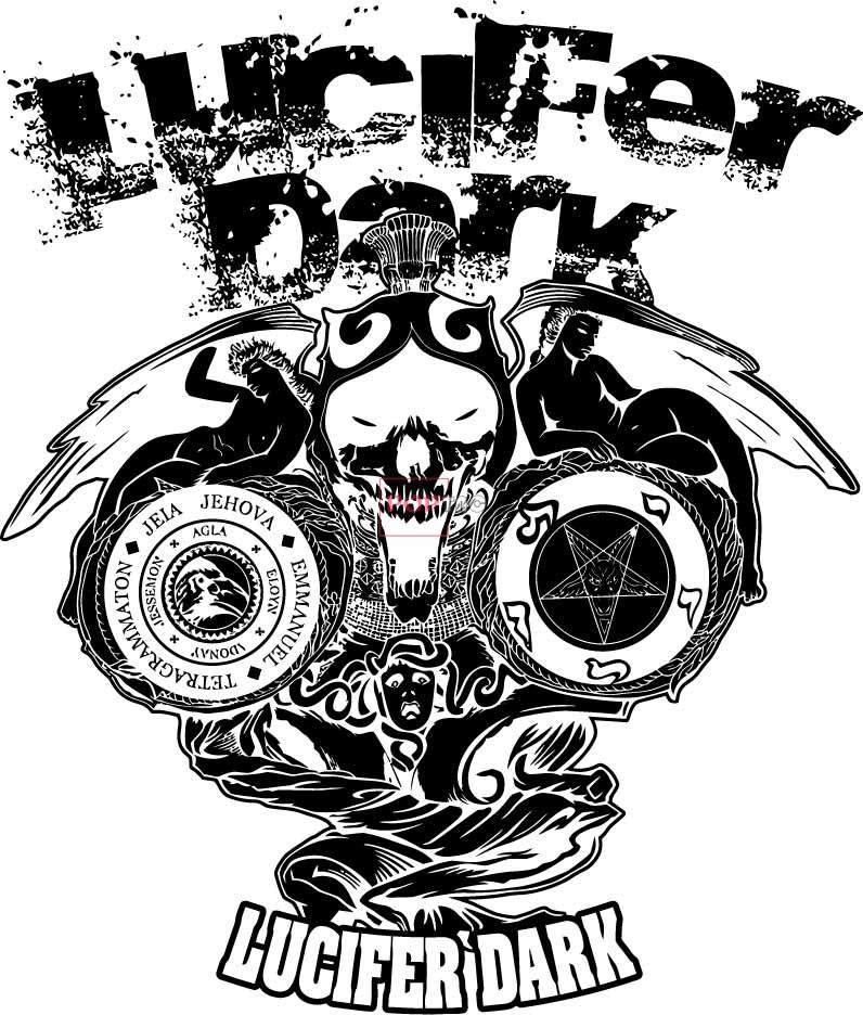 几何花纹字母涂鸦嘻哈风印花服装裁片T恤卫衣烫图印花花型素材-POP花型网