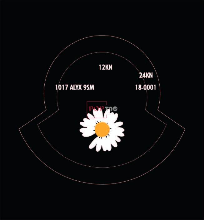 几何线条潮牌小邹菊字母印花图案服装裁片T恤卫衣烫图印花花型素材-POP花型网