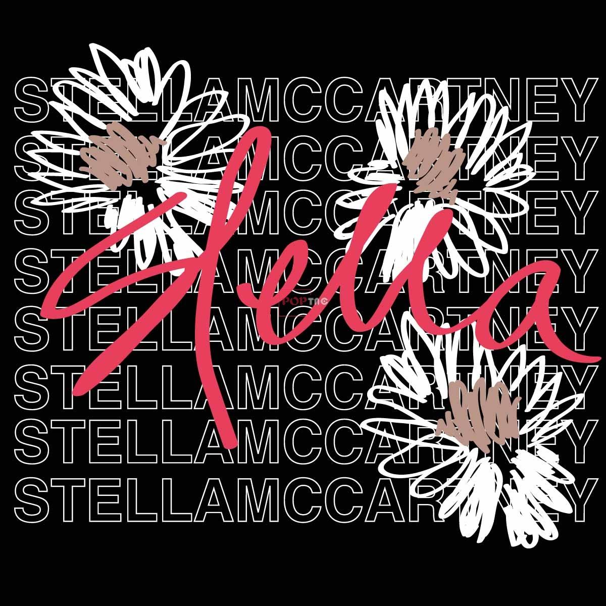 字母图案小邹菊印花服装裁片T恤卫衣烫图印花花型素材-POP花型网
