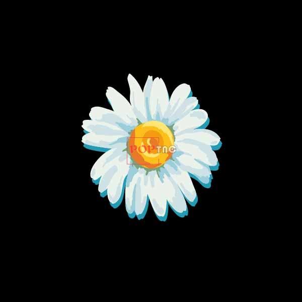 油画小邹菊印花图案服装裁片T恤卫衣烫图印花花型素材-POP花型网