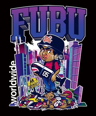嘻哈风人物字母印花图案服装裁片T恤卫衣烫图印花花型素材-POP花型网