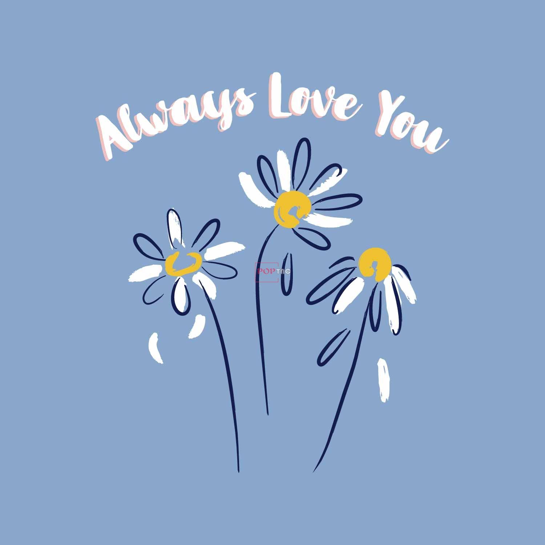 植物小邹菊字母图案印花服装裁片T恤卫衣烫图印花花型素材-POP花型网