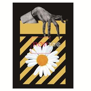 植物花朵小邹菊手掌印花图案服装裁片T恤卫衣烫图印花花型素材-POP花型网