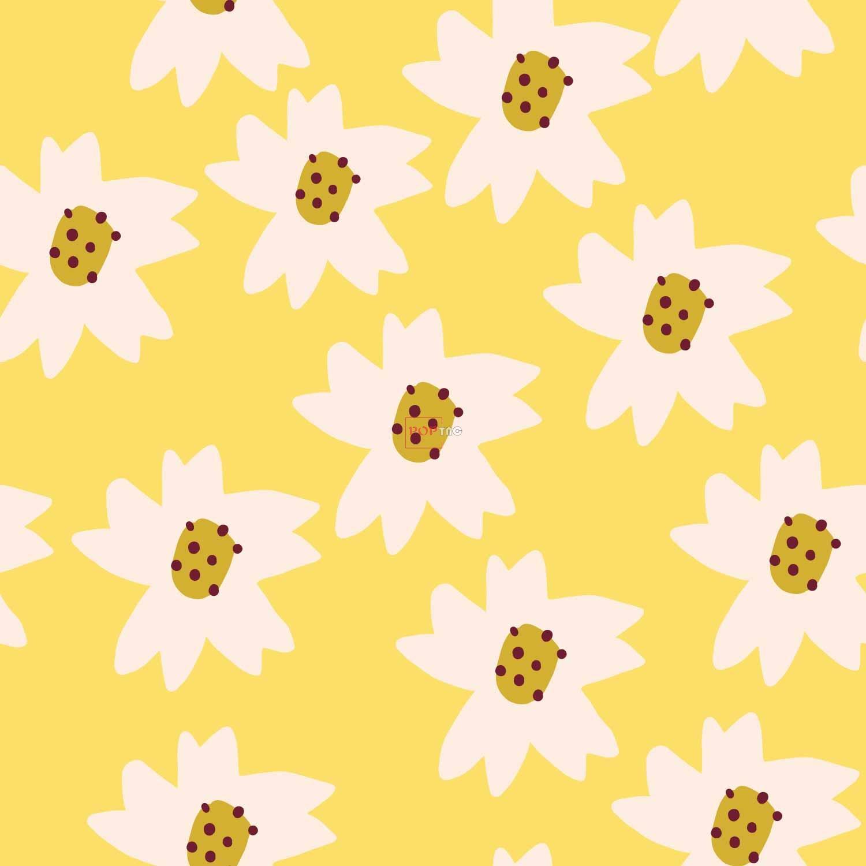 几何植物花朵小邹菊印花图案服装纺织数码印花花型素材-POP花型网