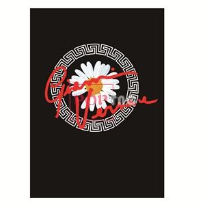 几何图案范思哲小雏菊字母印花服装裁片T恤卫衣烫图印花花型素材-POP花型网