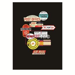 几何图案徽章字母印花服装裁片T恤卫衣烫图印花花型素材-POP花型网