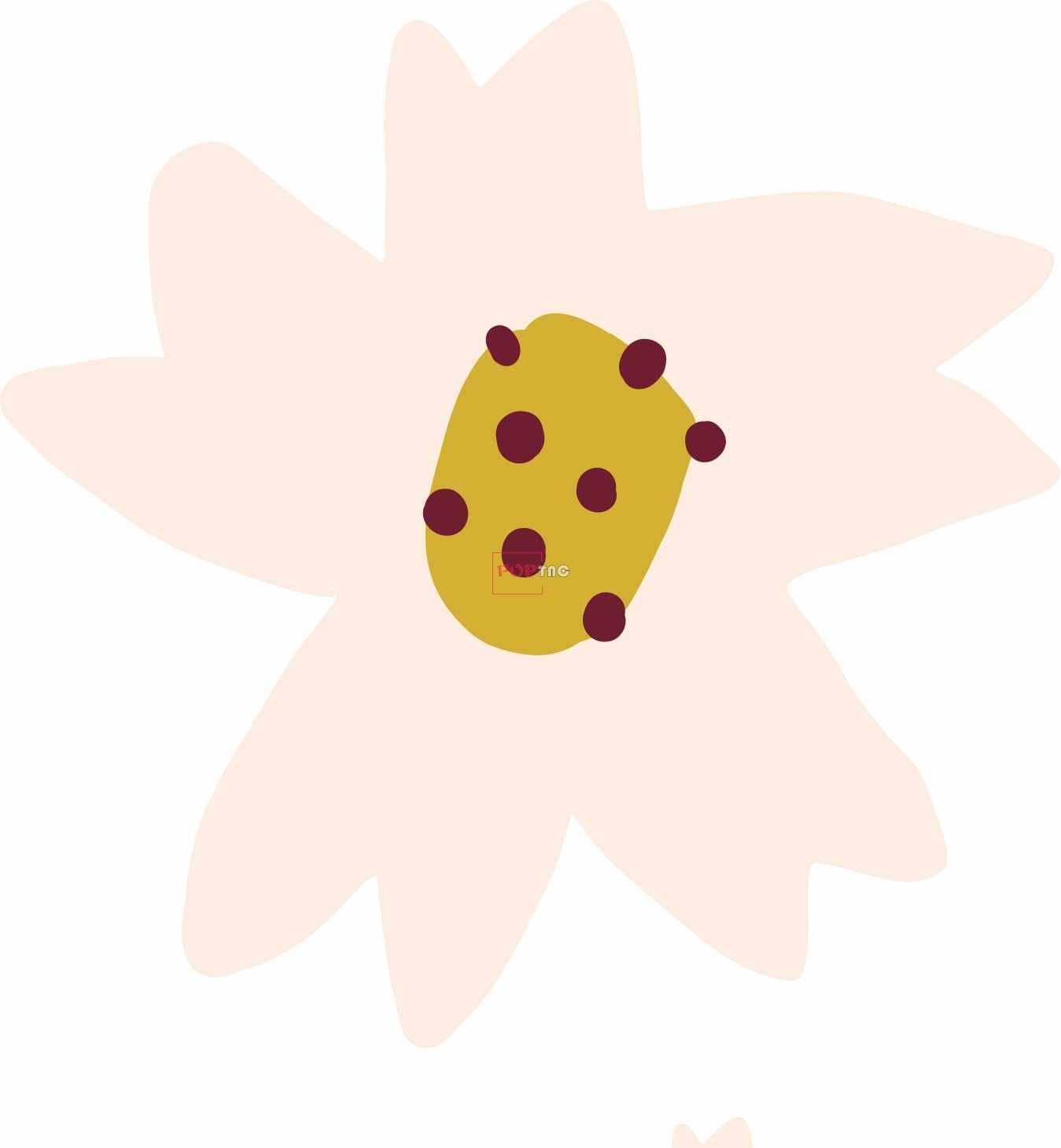 植物小雏菊印花图案服装裁片T恤卫衣烫图印花花型素材-POP花型网