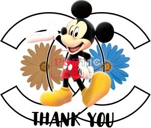 卡通动漫米老鼠植物小雏菊潮牌双C印花图案服装裁片T恤卫衣烫图印花花型素材-POP花型网
