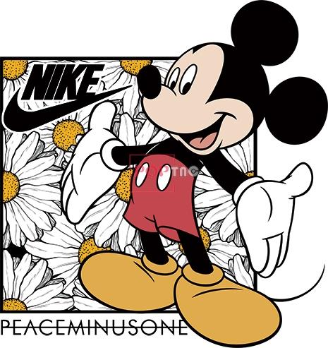 卡通动漫米老鼠植物小雏菊NIKE耐克印花图案服装裁片T恤卫衣烫图印花花型素材-POP花型网