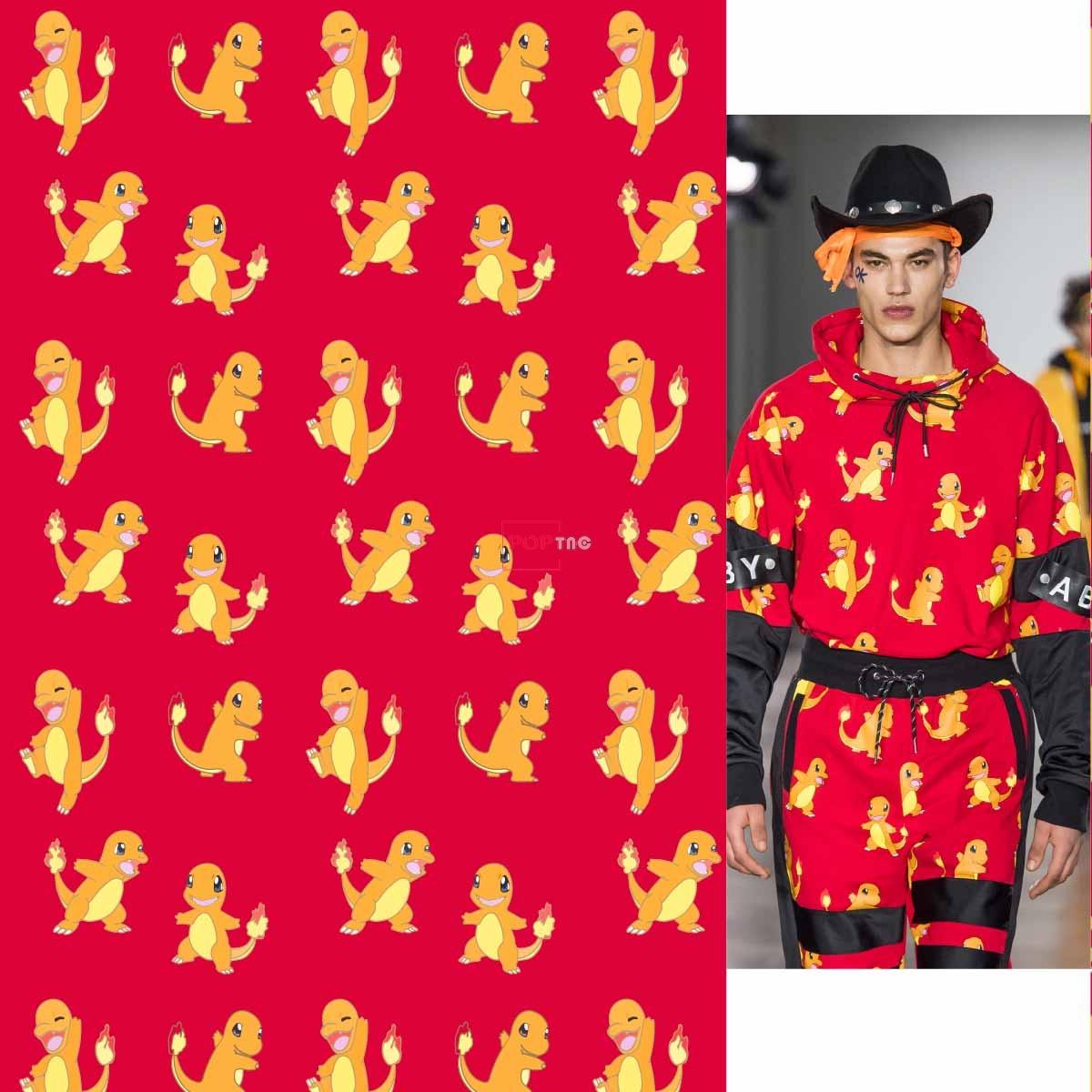 卡通动漫印花图案服装纺织数码印花花型素材-POP花型网