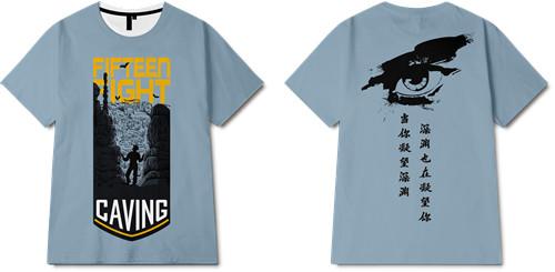 字母人物山峰全身印印花图案服装裁片T恤卫衣印花花型素材-POP花型网
