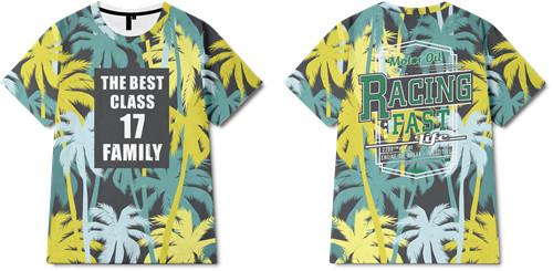 字母植物热带风全身印印花图案服装裁片T恤卫衣印花花型素材-POP花型网