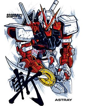 卡通动漫机动战士高达字母印花图案服装裁片T恤卫衣烫图印花花型素材-POP花型网