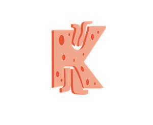 卡通字母K潮图印花服装裁片T恤卫衣烫图印花花型素材-POP花型网