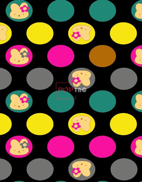 几何圆点小动物兔子金昌印花图案服装纺织水印数码印花花型素材-POP花型网