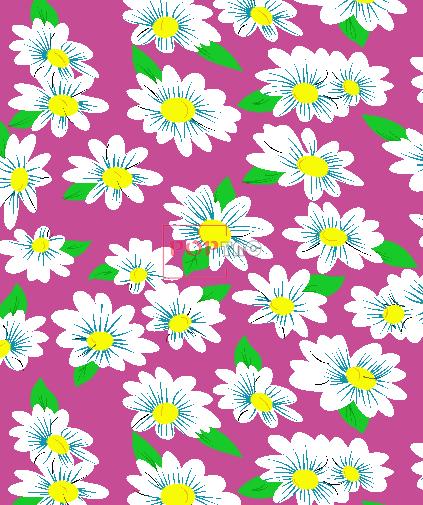 植物花卉小雏菊金昌印花图案服装纺织水印数码印花花型素材-POP花型网