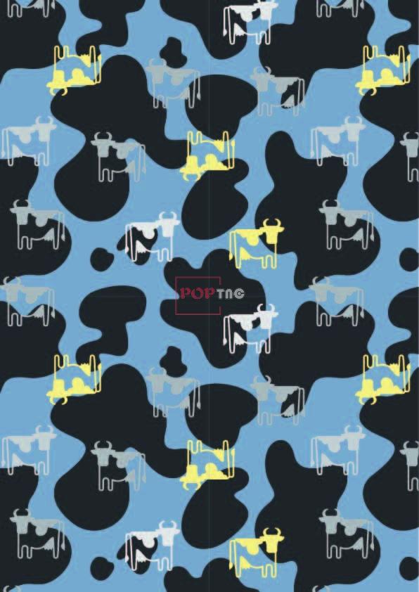 几何图案迷彩动物牛印花图案服装纺织数码印花花型素材-POP花型网