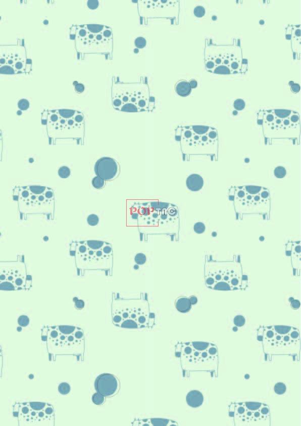 几何图案奶牛印花服装纺织数码印花花型素材-POP花型网
