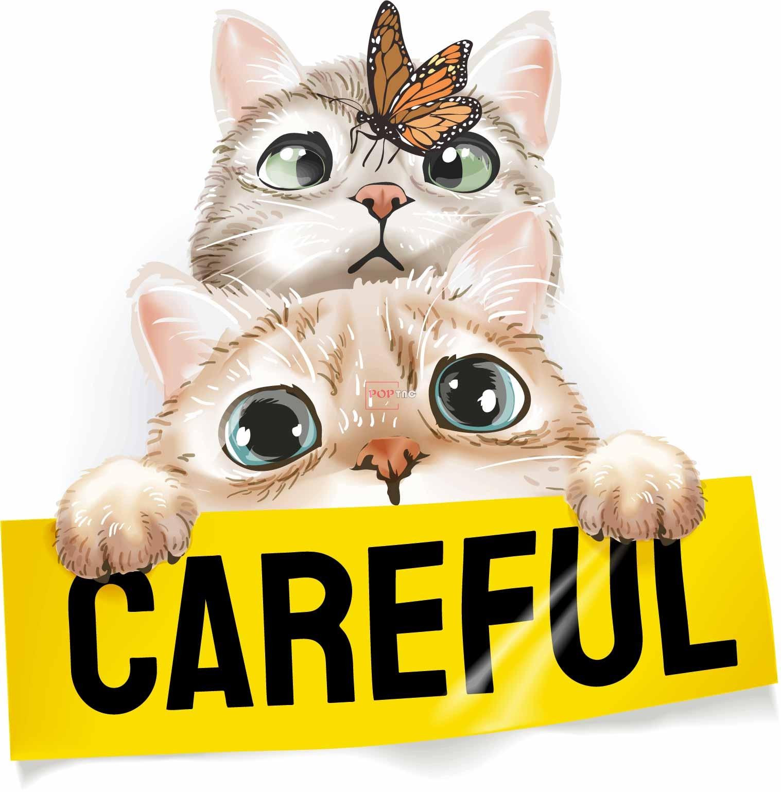 卡通动物猫咪蝴蝶字母印花图案服装裁片T恤卫衣烫图印花花型素材-POP花型网