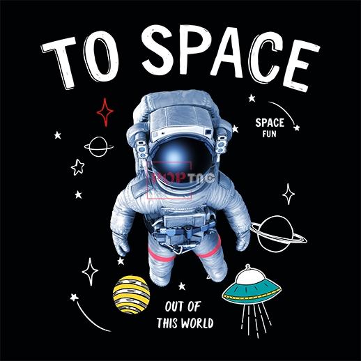太空人飞碟字母印花图案服装裁片T恤卫衣烫图印花花型素材-POP花型网