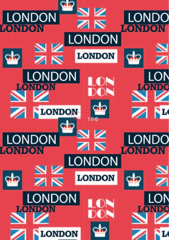 英国国旗字母皇冠印花图案服装纺织数码印花花型素材-POP花型网