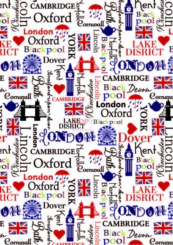 字母爱心伦敦塔印花图案服装纺织数码印花花型素材-POP花型网