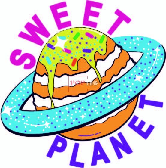 卡通图案蛋糕字母印花图案服装裁片T恤卫衣烫图印花花型素材-POP花型网