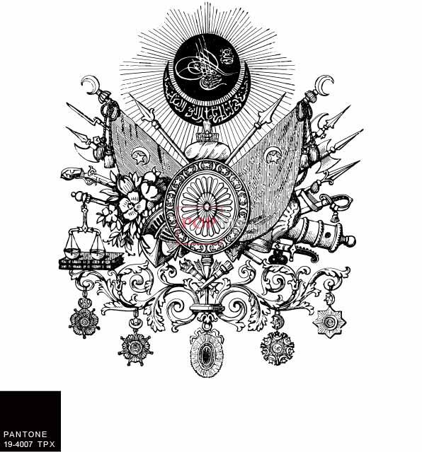几何花纹兵器图案印花服装裁片T恤卫衣烫图印花花型素材-POP花型网