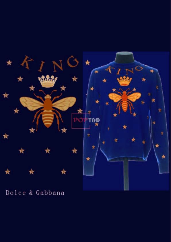 星星蜜蜂皇冠印花图案服装裁片T恤卫衣烫图印花花型素材-POP花型网
