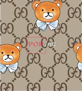 卡通动物熊字母大牌印花图案服装纺织数码印花花型素材-POP花型网