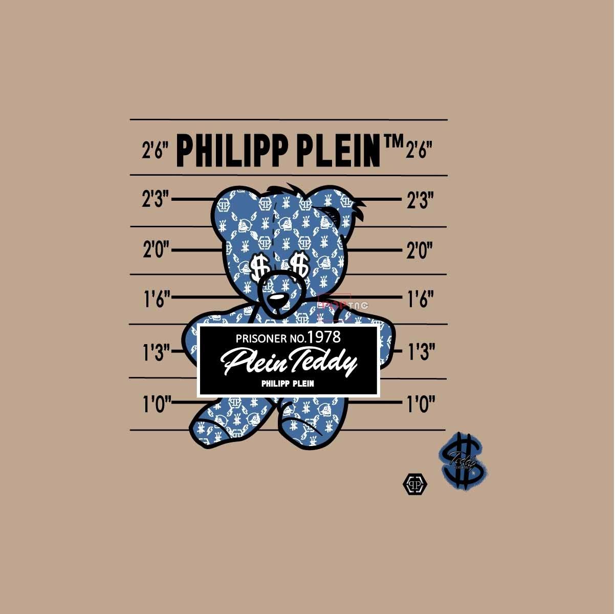 卡通动物潮牌熊字母数字印花图案服装裁片T恤卫衣烫图印花花型素材-POP花型网