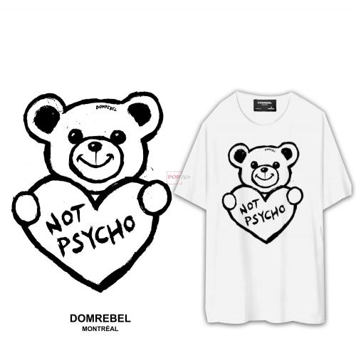 卡通动物潮牌熊爱心印花图案服装裁片T恤卫衣烫图印花花型素材-POP花型网
